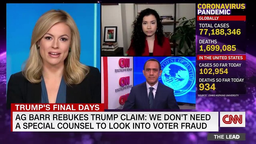 Barr rebukes Trump's baseless election fraud claims