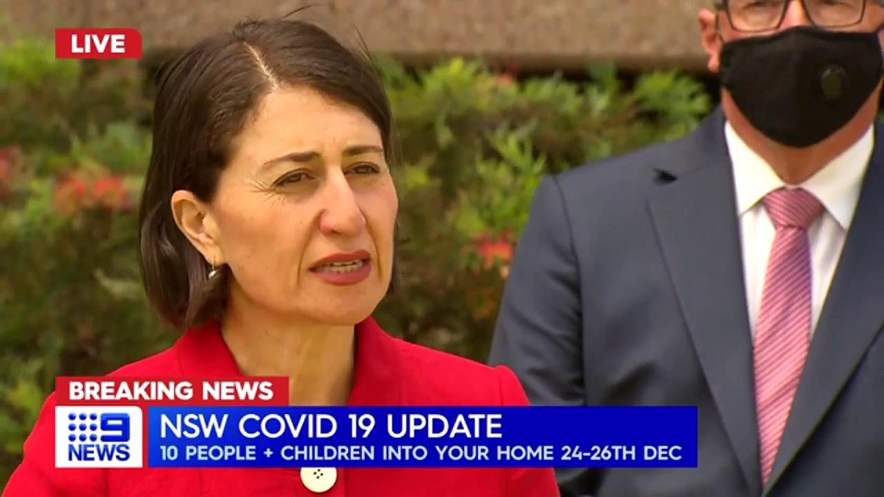 Coronavirus – NSW Premier announces Christmas restriction changes _ 9 News Australia