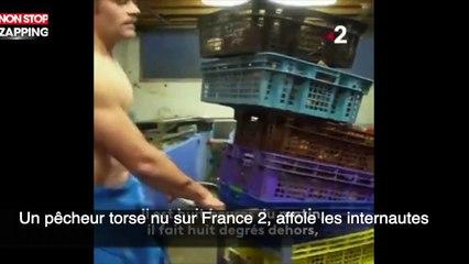 Un pêcheur torse nu sur France 2, affole les internautes (vidéo)