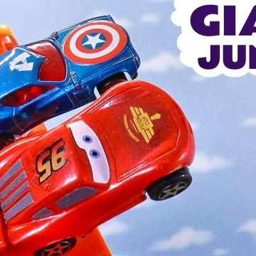 Disney Cars Lightning McQueen and Hot Wheels Racers in Giant Jumps Full Episodes Collection of Funny Funlings Races in these Family Friendly Toy Story Videos for Kids from Kid Friendly Family Channel Toy Trains 4U