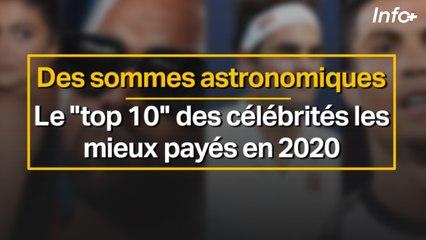 Des sommes astronomiques ... le top ten des célébrités les mieux payés en 2020