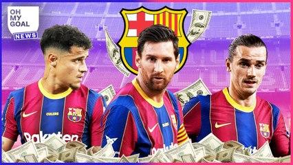 Messi, Griezmann, Coutinho : Les ÉNORMES salaires des joueurs du Barça dévoilés   Oh My Goal