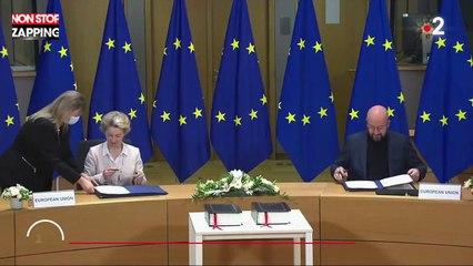 Brexit : les dirigeants de l'Union européenne signent l'accord (vidéo)