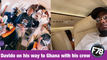 F78NEWS: Davido on his way to Ghana with his crew on Private Jet December 2020.