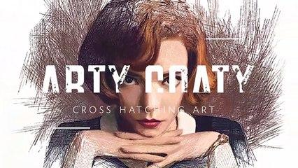 Drawing The Queen's Gambit (Anya Taylor-Joy) _ Beth Harmon _ How to Procreate _ Netflix _ ArtyCoaty