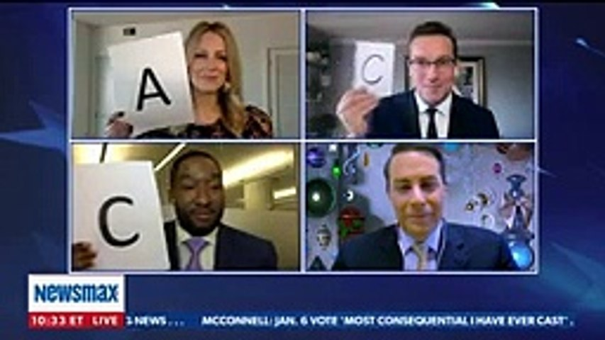 Newsmax stars BATTLE in New Years American trivia contest