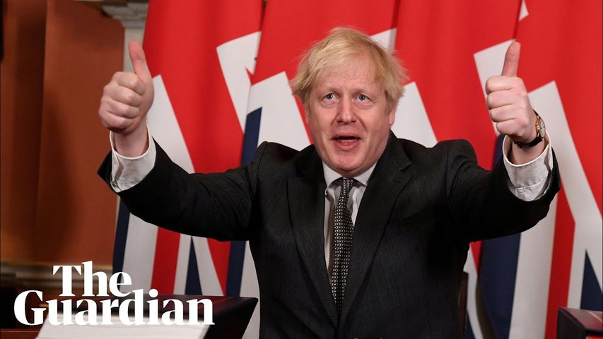Boris Johnson signs post-Brexit trade deal: 'This is the beginning'