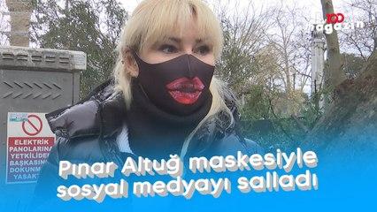 Pınar Altuğ maskesiyle sosyal medyayı salladı