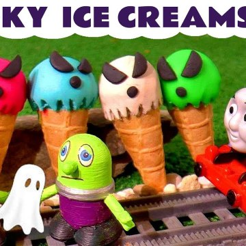 Spooky Ghost Ice Creams Pranks with Funny Funlings and Thomas and Friends plus Marvel Avengers Hulk in this Dress Up Family Friendly Full Episode English Toy Story for Kids
