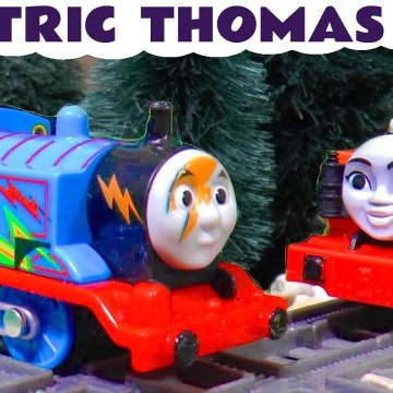 Electric Thomas Accidents from Thomas and Friends with Kenji and the Funny Funlings in this Family Friendly Full Episode English Toy Story for Kids from Kid Friendly Family Channel Toy Trains 4U