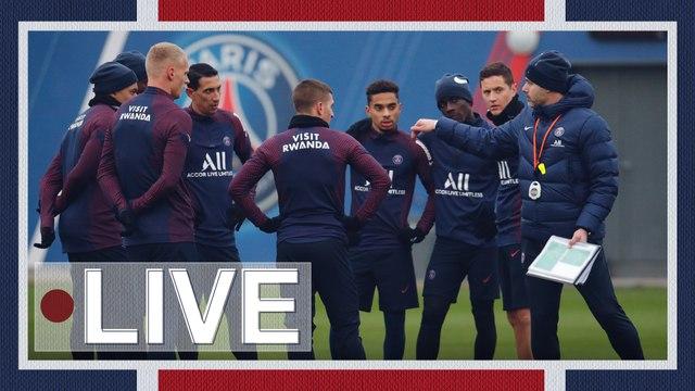 Replay : L'entraînement veille de Saint-Etienne - Paris Saint-Germain