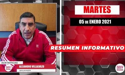 Resumen de noticias martes 5 de enero  2021 / Panorama Informativo / 88.9 Noticias