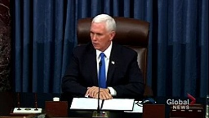 -A dark day-- US VP Mike Pence condemns violence at Capitol Hill