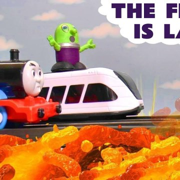 The Floor is Lava with the Funny Funlings Marvel Avengers Hulk and Thomas and Friends in this Family Friendly Full Episode English Toy Story for Kids from Kid Friendly Family Channel Toy Trains 4U