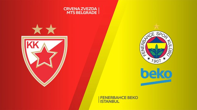 Crvena Zvezda mts Belgrade - Fenerbahce Beko Istanbul Highlights | Turkish Airlines EuroLeague, RS Round 18