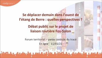 Débat Public Liaison Routière Fos Salon - Forum en ligne - 11 janvier 2021