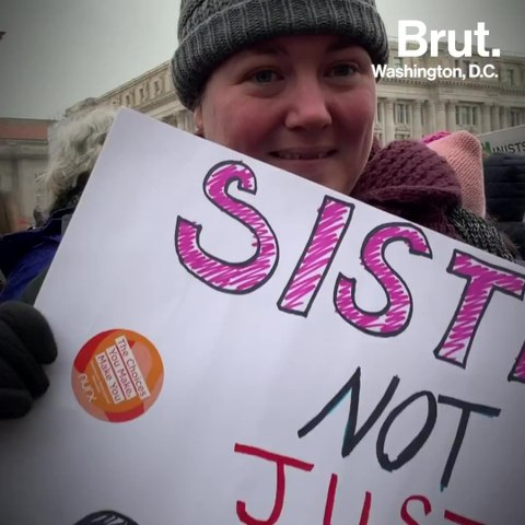 Brut spoke with marchers at the 3rd annual Women's March in D.C.