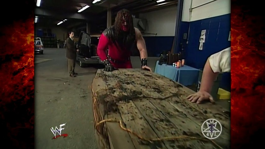 Kane Chokeslams The Undertaker Into His Mother's Casket! 4/20/98