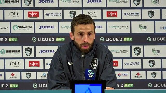 Après HAC - Valenciennes (0-2), réactions d'Alexandre Bonnet