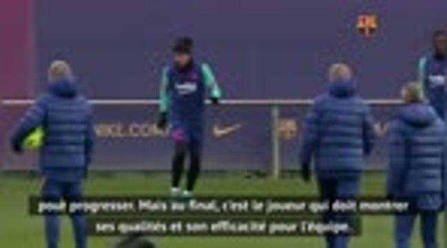 """Barcelone - Koeman : """"Le remède pour Griezmann ? Marquer"""""""