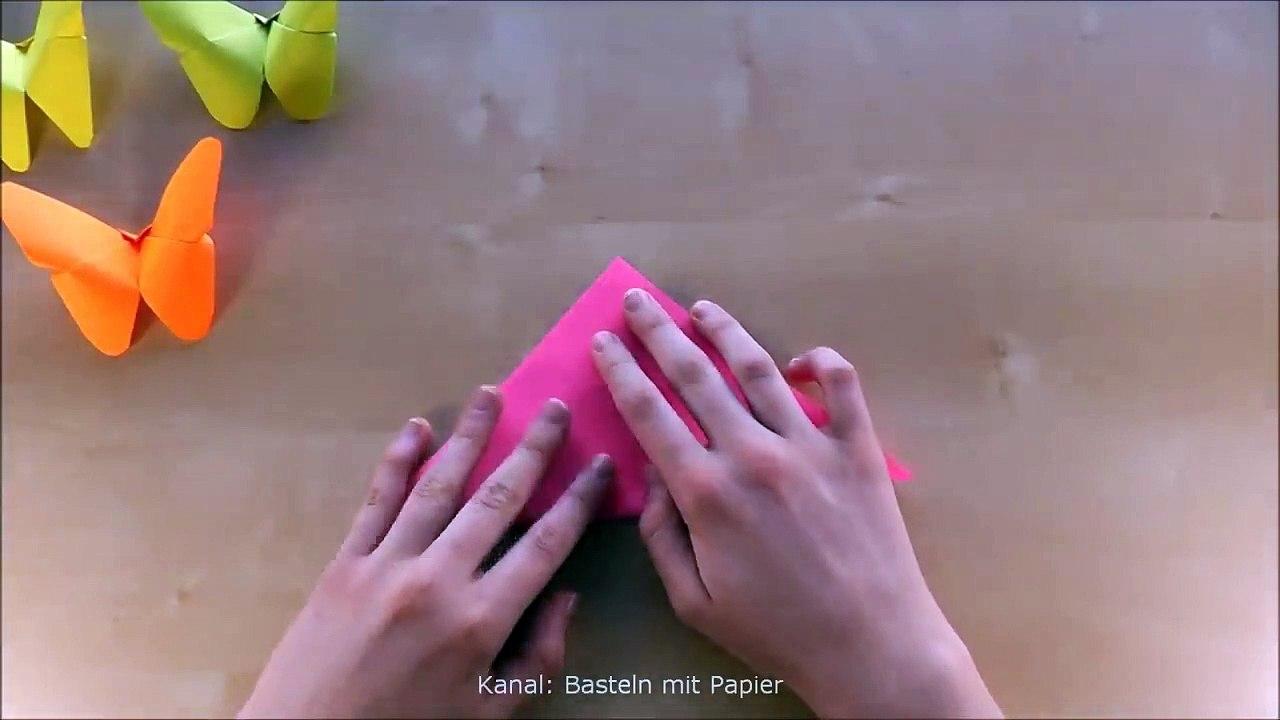 basteln origami schmetterling falten mit papier deko