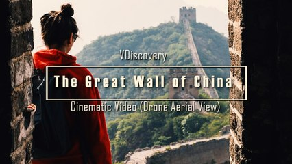 The Great Wall of China in Cinematic Video (Drone Aerial View)
