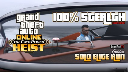 Guided Solo Elite Run in The Cayo Perico Heist 100% Stealth | GTA Online (Tagalog)