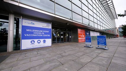 Millennium Point, Birmingham, opens as an NHS Vaccination Centre today - providing potentially life-saving jabs for pensioners and medics (SWNS)