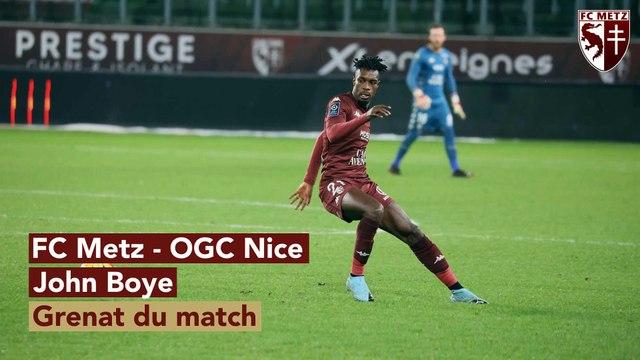 Metz - Nice, John Boye Grenat du match !