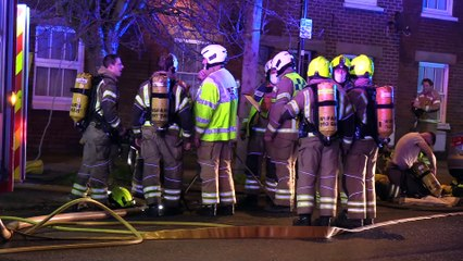 Video shows scene of house blaze in Horsham