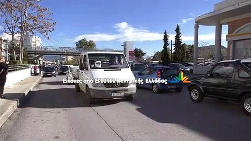 Αυτοκινητοπομπή στο κέντρο της Χαλκίδας για εμπόριο και εστίαση