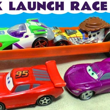 Quick Launch Funny Funlings Race with Hot Wheels Superheroes versus Disney Cars Lightning McQueen in this Family Friendly Full Episode English Toy Story for Kids from a Kid Friendly Family Channel