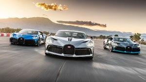 Les premières Bugatti Divo américaines en action sur circuit