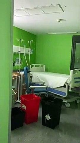 Goteras en el ala de Pediatría del Hospital del Sureste, en Arganda del Rey