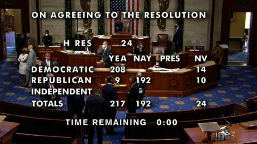 See historic moment House reaches enough votes to impeach Trump