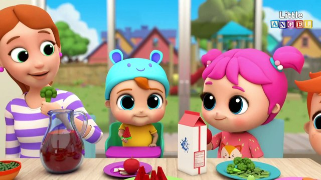 No More Snacks Baby John!  Yummy Vegetables & Healthy Habits Song  Little Angel Kids Songs