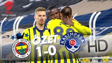 Fenerbahçe - Kasımpaşa Ziraat Türkiye Kupası Son 16 Turu Maçının Özeti