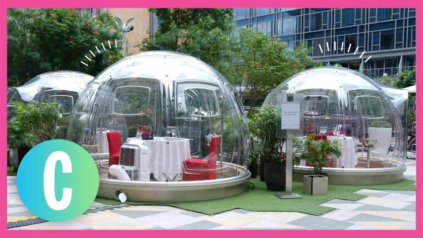 This Hotel Offers A Six-Course Meal In *Private* Bubble Pods