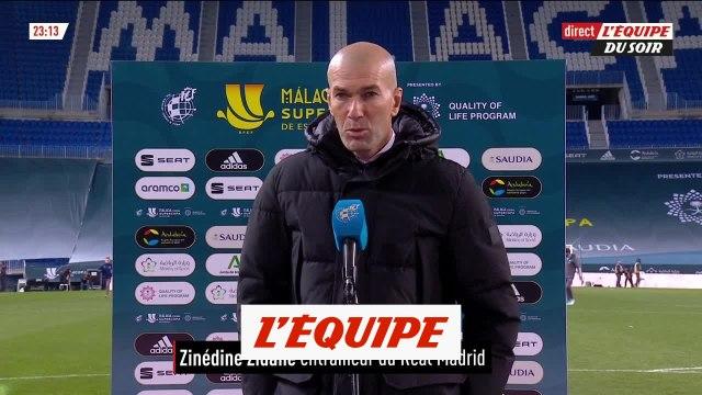 Zidane « Très mal rentré dans notre match » - Foot - Super Coupe d'Espagne