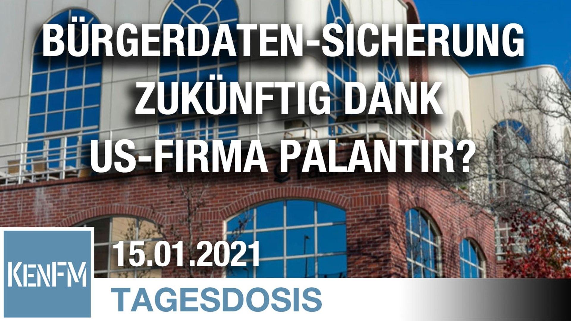 Deutsche Bürgerdaten-Sicherung zukünftig dank US-Firma Palantir?