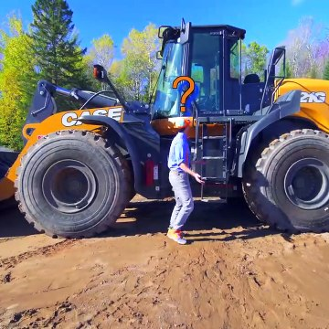 Diggers for Kids with Blippi | The Wheel Loader Construction Truck