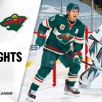 NHL Highlights | Sharks @ Wild 1/22/21