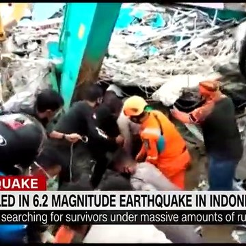 'Desperate' rescue efforts ongoing as Indonesia quake kills dozens