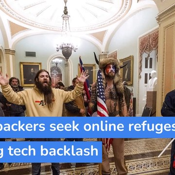 Trump backers seek online refuges after big tech backlash, and other top stories in technology from January 16, 2021.