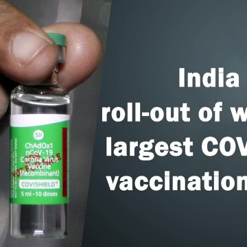 India set to roll out world's largest Covid-19 vaccination drive