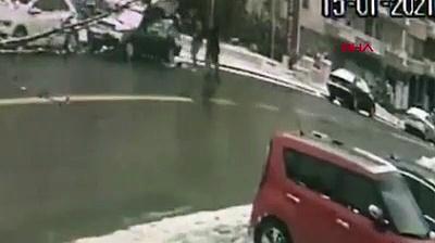 Gazeteci Orhan Uğuroğlu'na saldırı anı kamerada