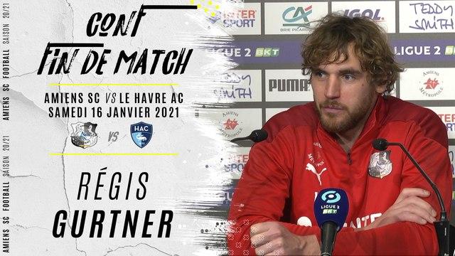 Conférence d'après match ASC - Le Havre : Régis Gurtner