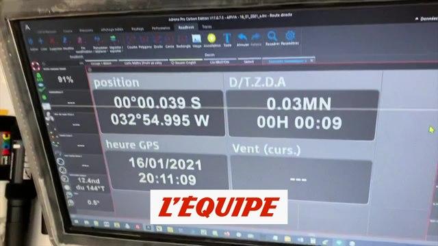 Dalin passe l'équateur - Voile - Vendée Globe