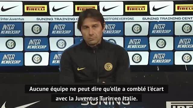 """18e j. - Conte : """"Aucune équipe n'a comblé l'écart avec la Juventus en Italie"""""""