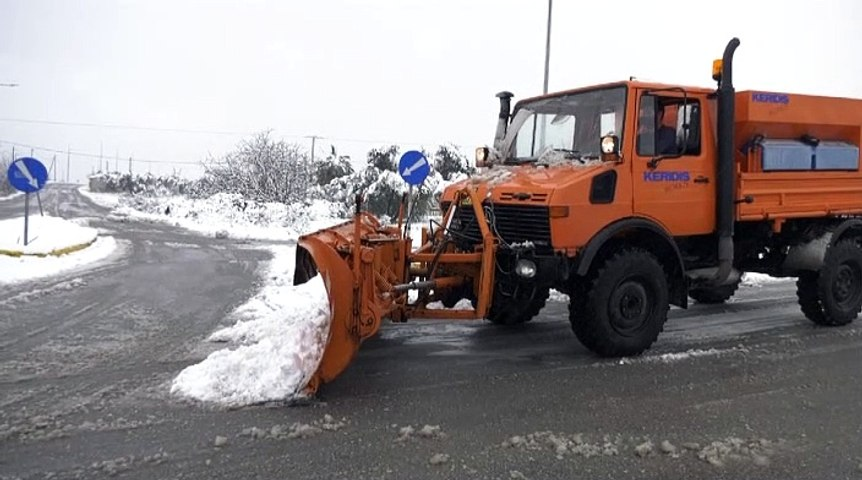 Χιόνια Εύβοια 18 Ιανουαρίου